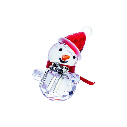 Snowman with a gift. Christmas gift. 1467 80