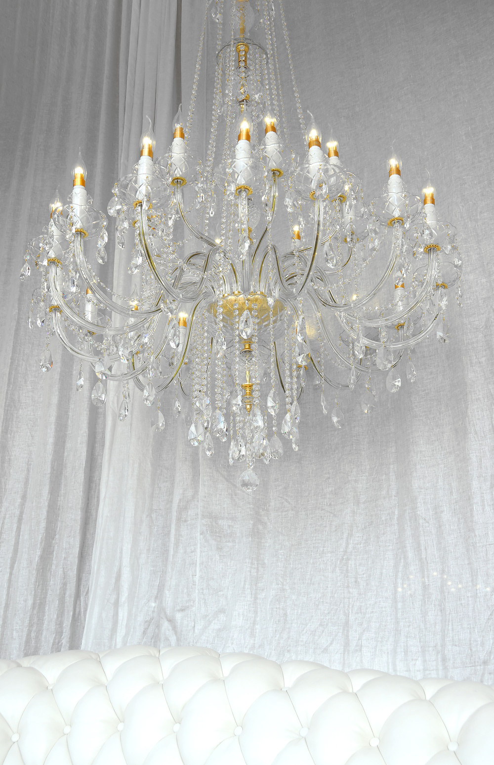Super large crystal chandelier for entryway, staircase, living room