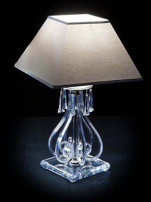 Table lamp S423/1/03/2 Swarovski crystals black shade