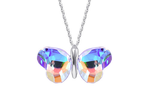 Pendant Vanessa crystal butterfly