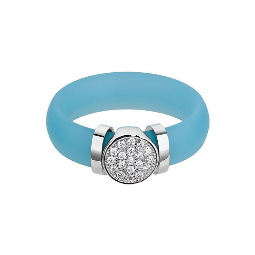 Ring A La Moda Sterling Silver with cubic zirconia stones