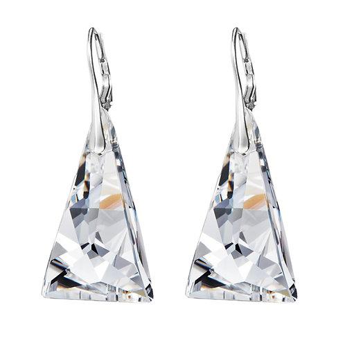 Earrings Ag 925/Rh   Crystal Pyramid  - crystal