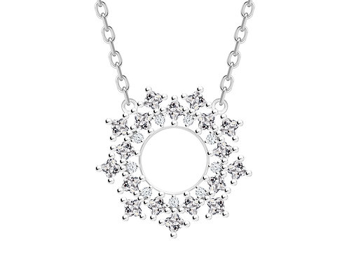 Necklace Orion Colorless cubic zirconia diamond Silver Ag925/Rh 5257 00