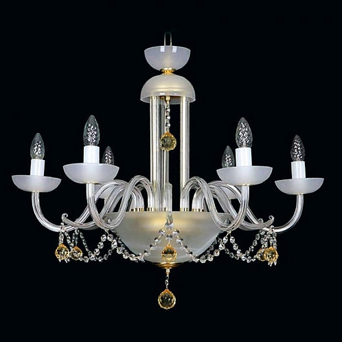 Crystal  ceramic chandelier L461/6/07-7 gold
