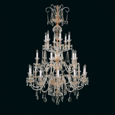 "Large crystal chandelier ""Berkana L670/24/01"" gold finishes"