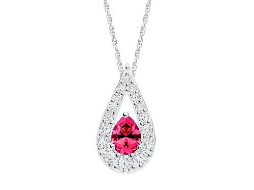 Pendant Libra cubic zirconia diamonds stones Silver AG 925 / Rh 5242 55 fuchsia