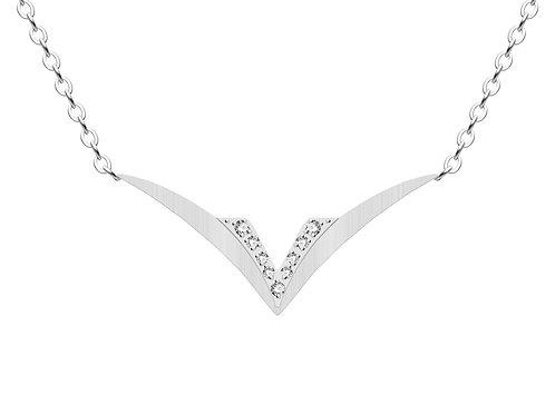 Necklace Gemini crystal diamonds surgical steel  7333 00