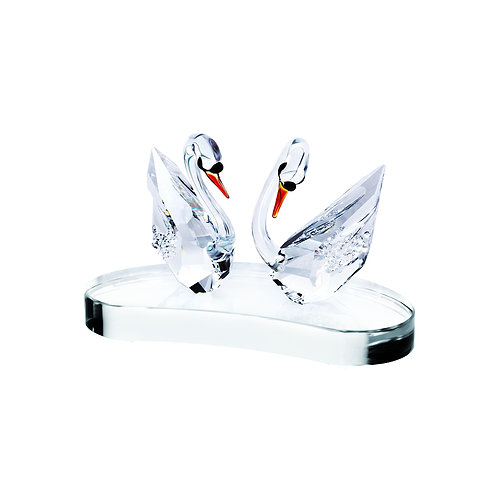 Swans crystal collection of the figurines. 1477 70