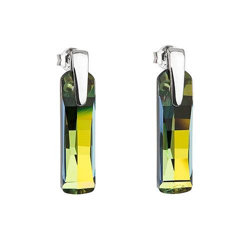 Earrings Shining Strip silver Ag 925/Rh green marea 6724 97
