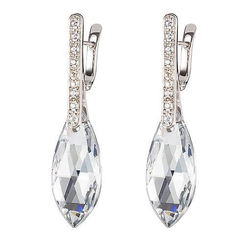 Peacock Feather - Earrings Ag 925/Rh - crystal