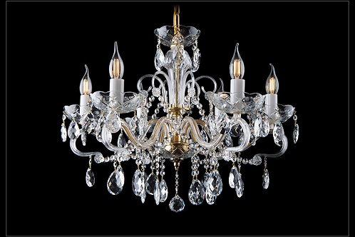 Chandelier clear crystal L166/6/01 gold