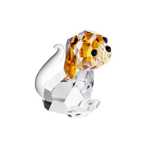 Dog. Zodiac. Crystal miniature figurine. 1474 61