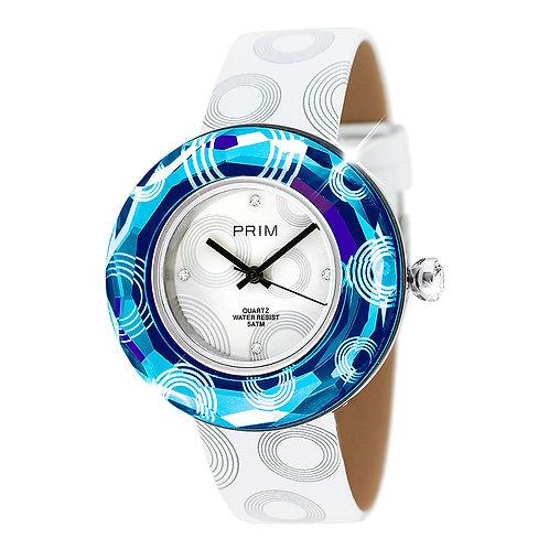 Swiss watches foe women unique design Blue rings Preciosa