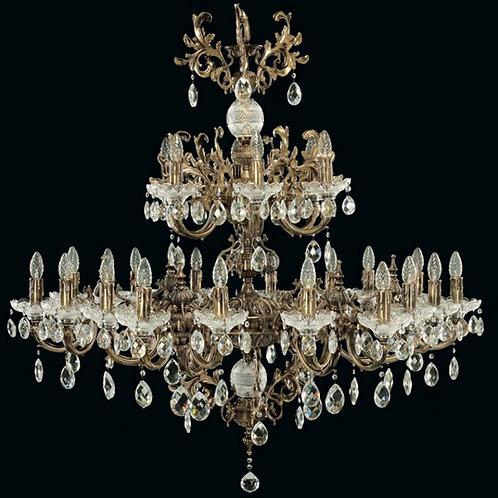 "Traditional brass chandelier with crystal ""Berkana L852/24/01"""