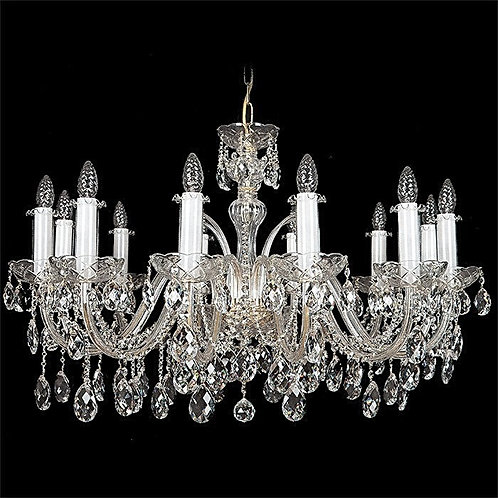 """Crystal chandeliers """"Berkana L102/12/01"""" silver finishes"""