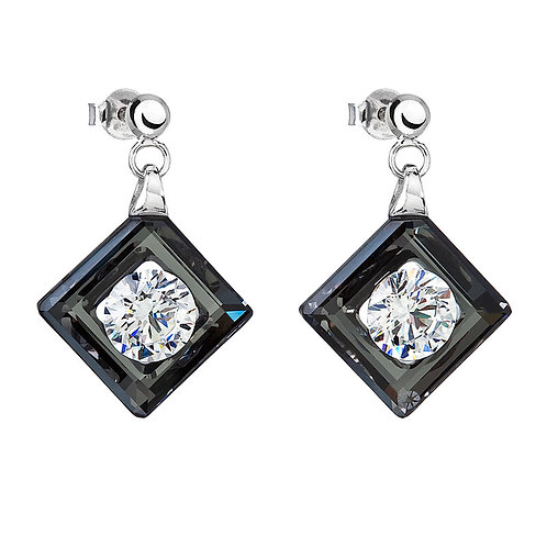 Earring PreciousSilver Ag 925/Rh Black chrome