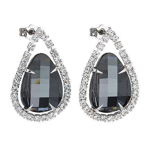 Earrings Everlasting Love  Black chrome crystal