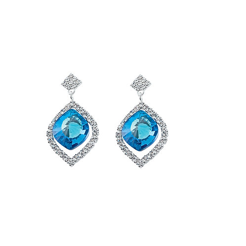 Earrings Cassiopeia  bermuda blue