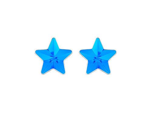 Earrings Virgo Light sky blue surgical steel  7343 67