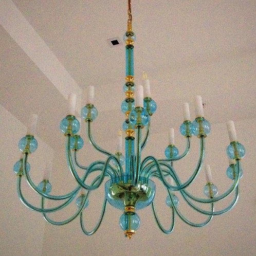 "Large light blue chandelier ""Berkana L430/18/00 S"""