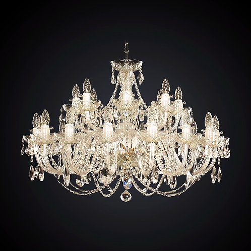 Large Crystal chandelier in gold L102-24-02 S