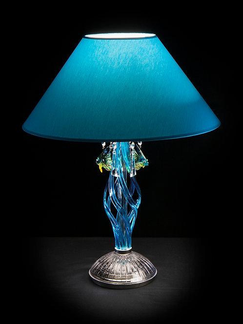 Table lamp silver S418/1/303/3 N modern style handmade art glass work