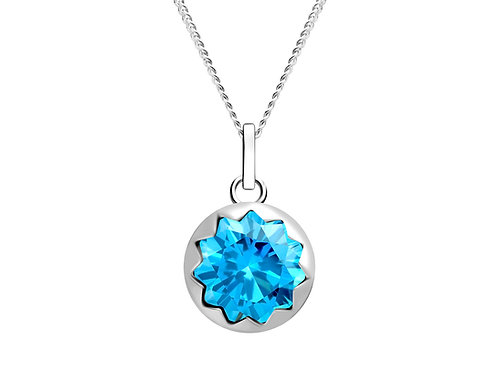 Pendant Vela Light Blue sky cubic zirconia diamond Silver Ag925/Rh 5252 67