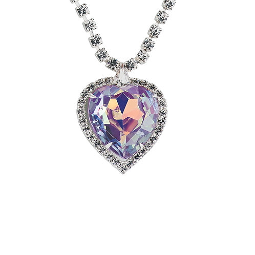 Necklace Heart - violet