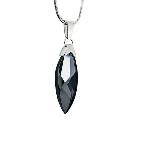 Pendant Glaçon  silver Ag 925/Rh  black crystal