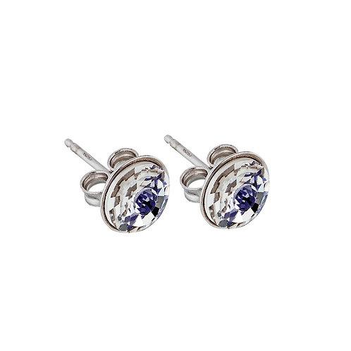 Earring Sparkling Shine Silver Ag 925/Rh  Dark blue tanzanite