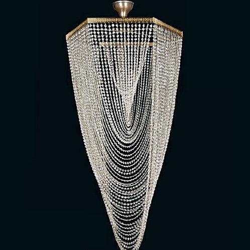 Large pendant lighting L747/12/05 Swarovski gold