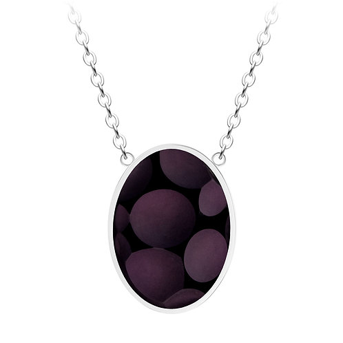 Necklace Delicia  stainless steel Black Matt Bohemian crystal