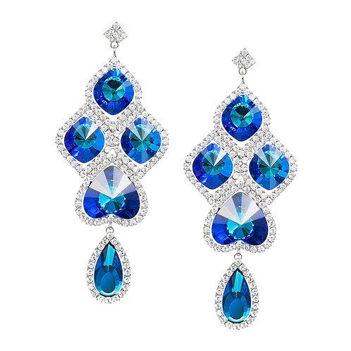 Earring Beatrice Bermuda Blue stones