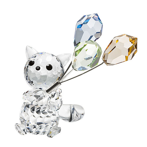Crystal Collection of miniature. Cat with balloons 1227 70