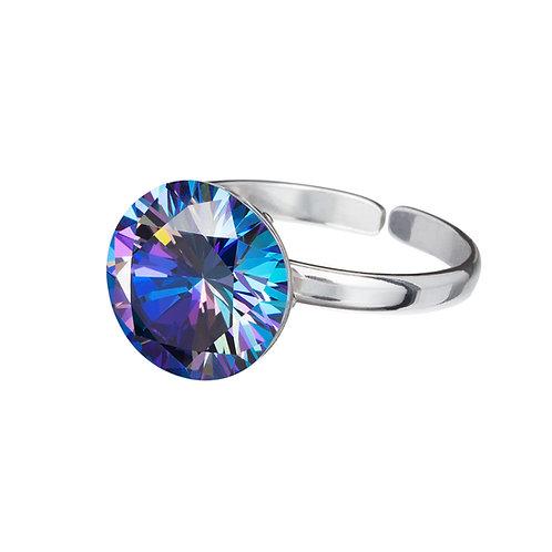 Ring Cubic zirconia Starry Ag 925/Rh bermuda blue