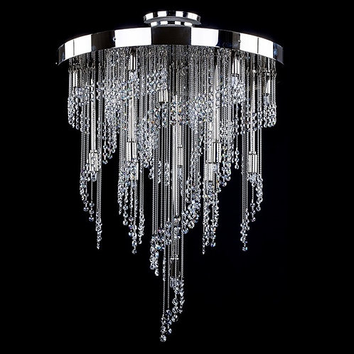 """Modern long crystal chandelier """"Berkana Water jets"""""""