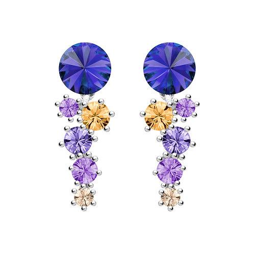 Earrings with dark blue stones Sterling silver Aronie