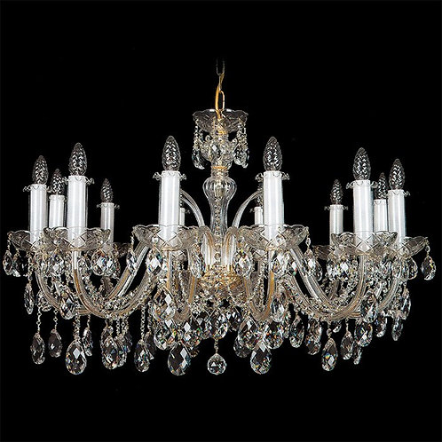 """Crystal chandeliers """"Berkana L102/12/01"""" gold finishes"""