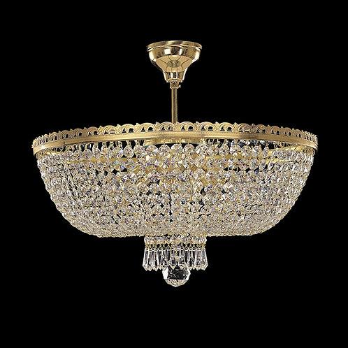 "Crystal chandelier ""Berkana L715/9/05 S"" gold finishes"