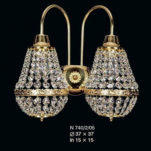 Wall scones N 740/2/05 N swarovski gold