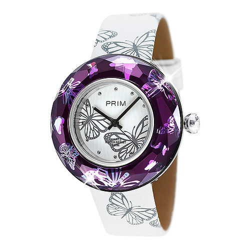 Swiss watches for Women Unique design Crystal Butterfly Motive Violet