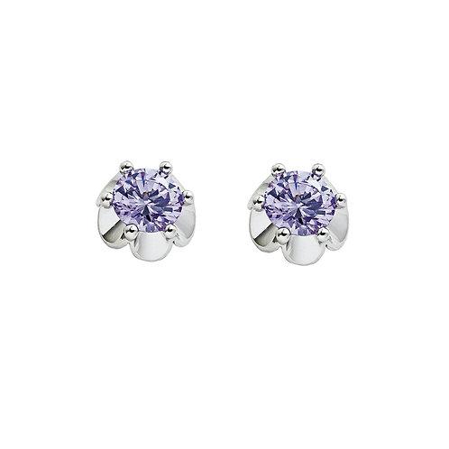 Earrings Charming Purple Cubic zirconia