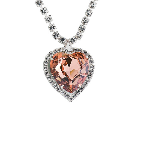 Necklace Heart apricot