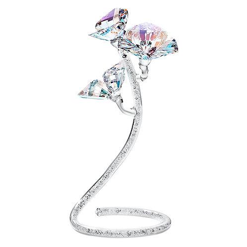 Gift. Crystal flower. Hibiscus. Amethyst. 1396 64