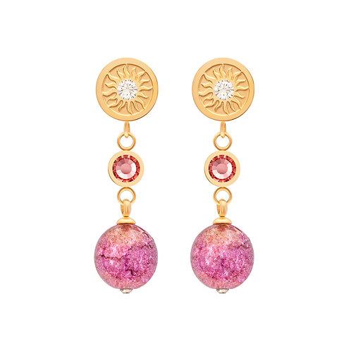 Pink Gold Earrings  stainless steel Rosina