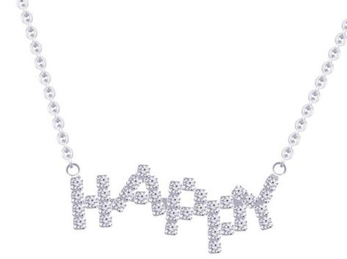 Necklace HAPPY sign
