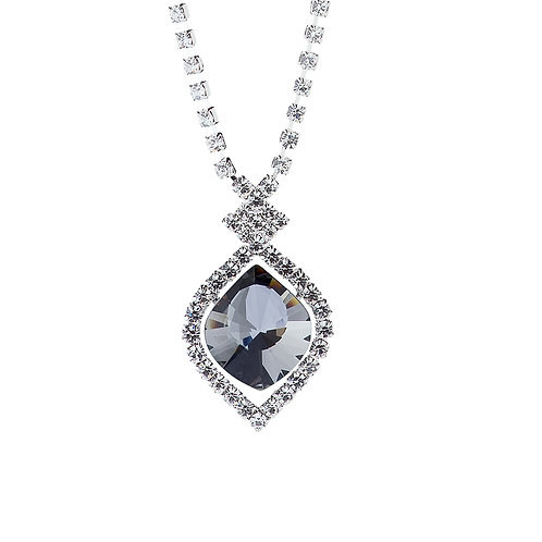 Pendant Cassiopeia  Necklace  Black Chrome