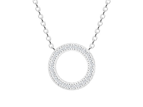 Necklace Gemini crystal diamonds surgical steel  7329 00