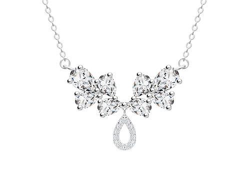 Necklace Libra cubic zirconia diamonds stones Silver AG 925 / Rh 5271 00