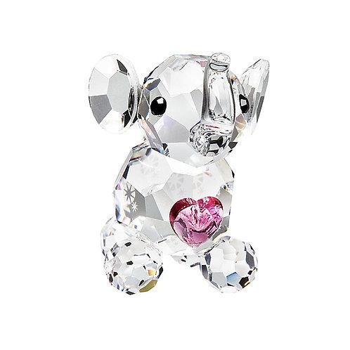 Baby Elephant with pink heart. Newborn gift idea. Birthday gift. Valentine
